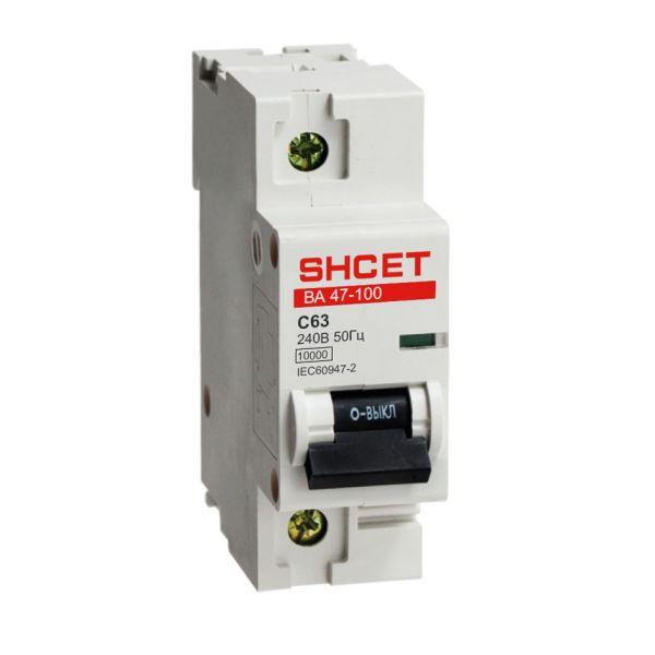 Автоматический выключатель серии ВА47-100 1Р