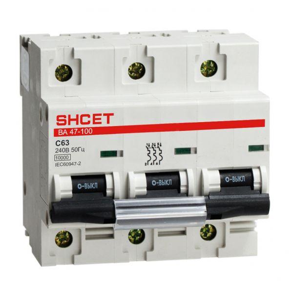 Автоматический выключатель серии ВА47-100 3Р