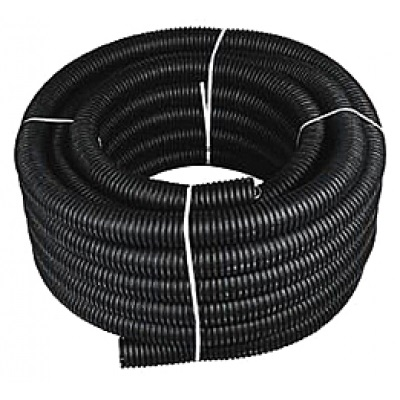 Труба гофрированная ПНД Строительная безгалогенная (HF) с/з д50 (бухта 15 метров)