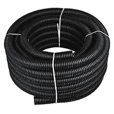 Труба гофрированная ПНД Строительная безгалогенная (HF) с/з д63 (бухта 15 метров)